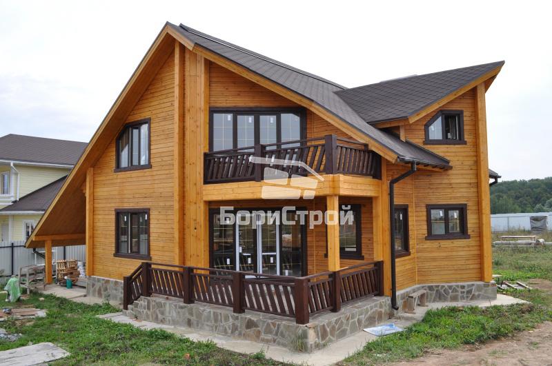 Строительство двухэтажного дома из профилированного бруса в Минске