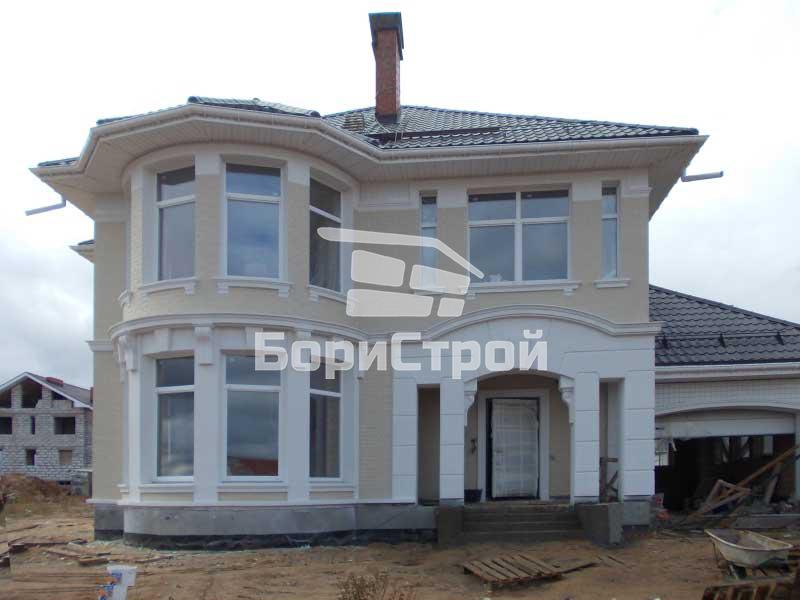 Строительство коттеджа и кирпича 208 м.кв. в Смолевичах
