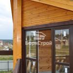 Строительство двухэтажного дома из профилированного бруса