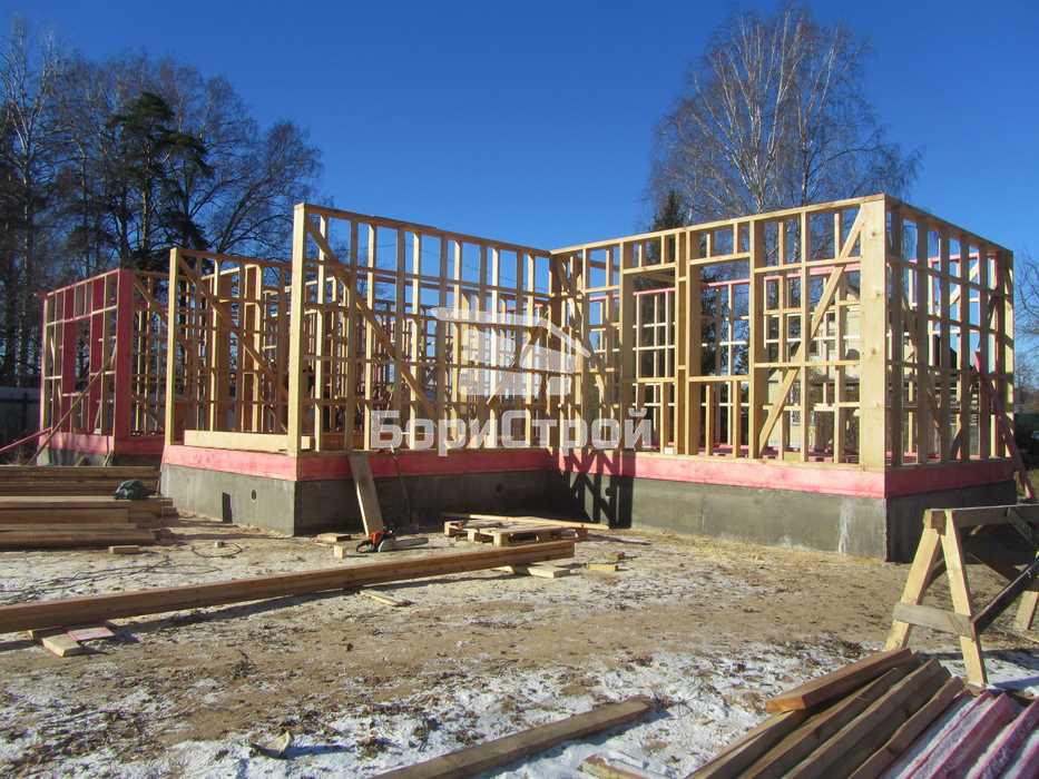 Строительство каркасного дома 144 м.кв. в Борисове