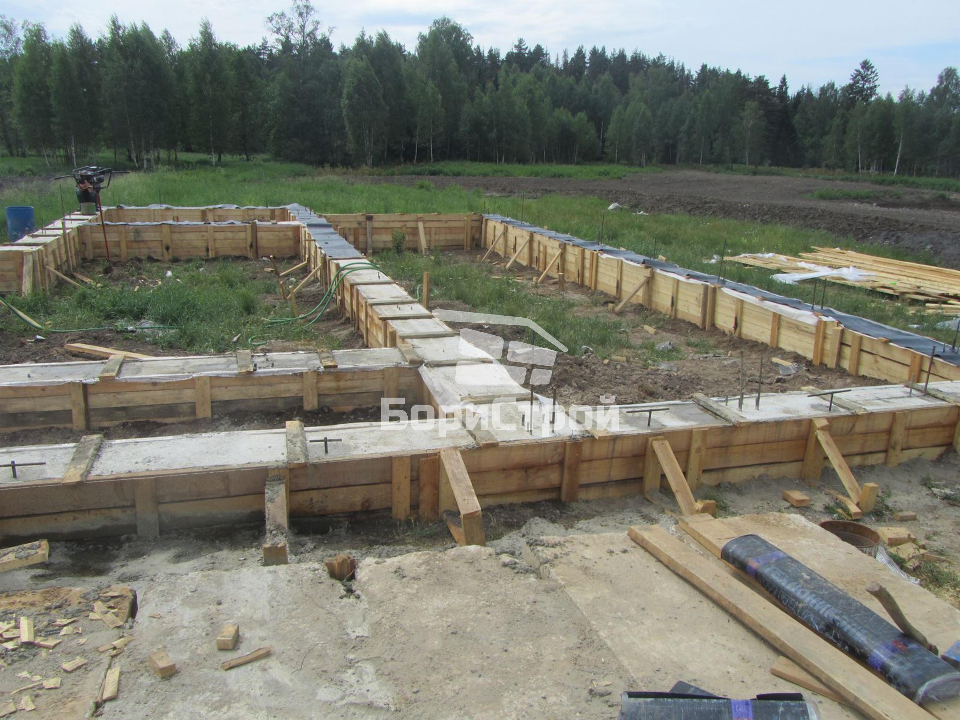 Строительство 2-этажного дома 240 м.кв. в Логойске