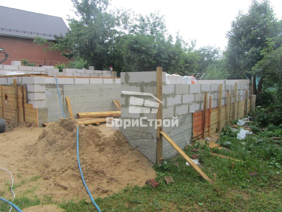 Строительство 2-этажного дома из газобетона в Борисвое